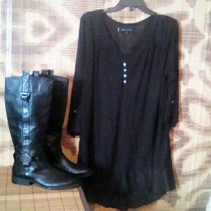Anne Klein half button dress /shirt